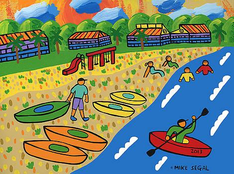 Kayak Beach - Cedar Key by Mike Segal