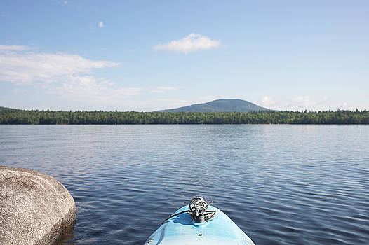 Kayak Fishing in Maine by Morgain Bailey