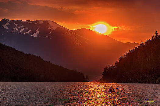 Kayak in the Sunset Glow by Stephen Johnson