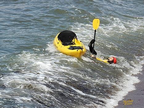 Gary Canant - Kayak making a hard landing