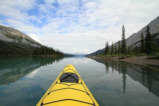 Kathy Stanczak - Kayak on Maligne Lake
