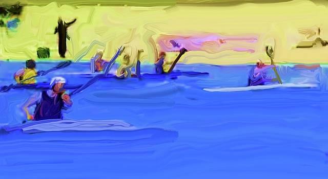 Kayak Polo 2 by Harry Spitz