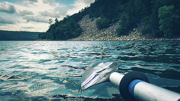 Kayaking At Devils Lake by Jeanette Fellows