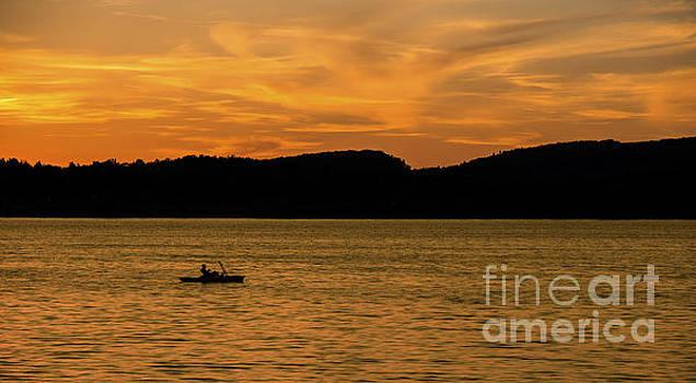 Kayaking At Sunset by Brian Mollenkopf