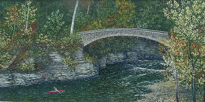 Kayaking on Beebe Lake, Cornell by Michael Winston