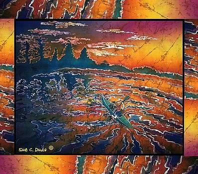 Sue Duda - Kayaking Serenity - Bordered