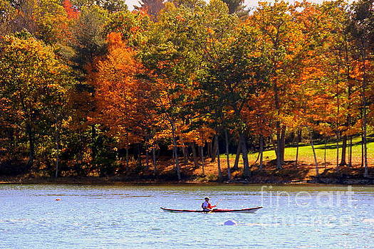 Kayaking York  River Maine by Lennie Malvone