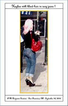 Kaylese With Blond Wig And Jeans by Anthony Benjamin