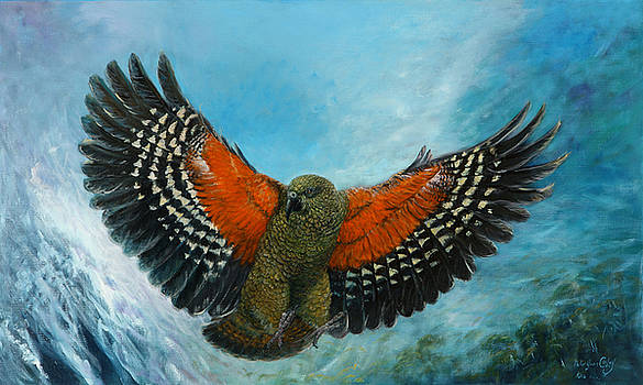 Kea New Zealand by Peter Jean Caley
