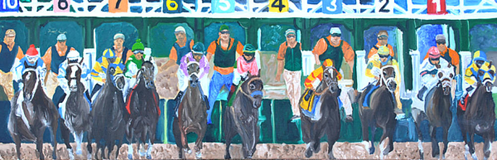 Keenland Starting Gate by Michael Lee