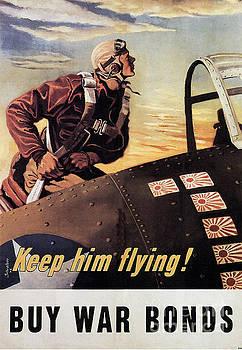 R Muirhead Art - Keep Him Flying Buy War Bonds Poster