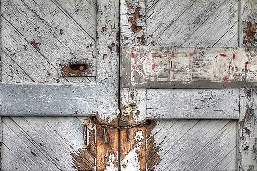 Keep Out Door Rustic Chain Lock by Jane Linders