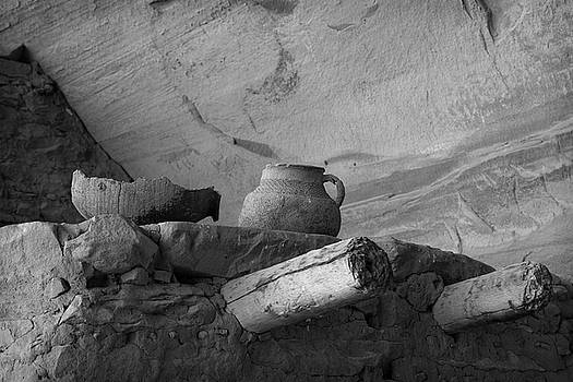 Keet Seel Ruins Pottery by Larry Pollock
