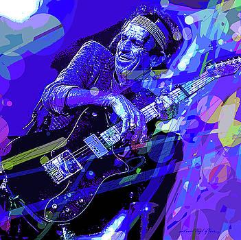 Keith Richards Blue by David Lloyd Glover