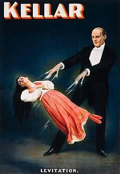 Kellar Levitation magician poster 1894 by Vintage Printery
