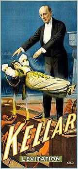 Kellar, Levitation, magician poster, 1900 by Vintage Printery