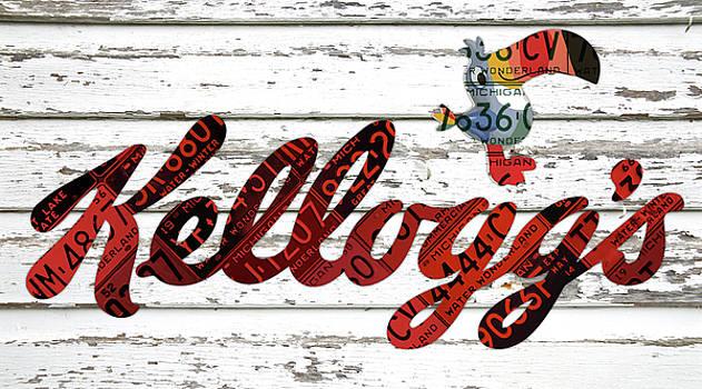 Design Turnpike - Kelloggs Fruit Loops Cereal Michigan Vintage License Plate Art