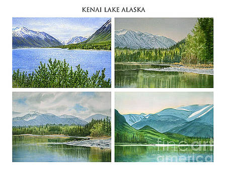 Sharon Freeman - Kenai Lake Alaska Poster with Title