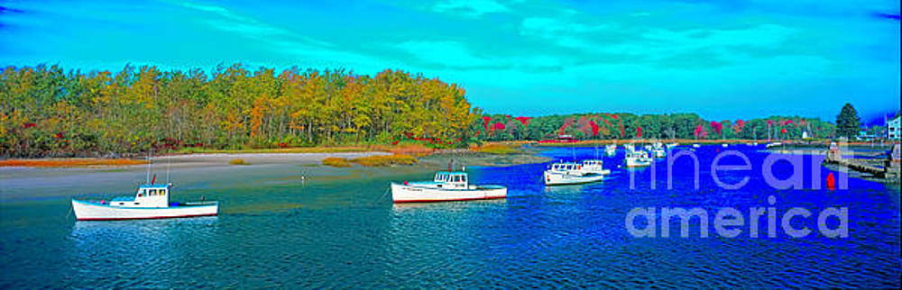 Kennebunkport, Maine, lobster boats by Tom Jelen