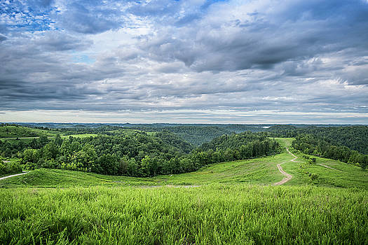 Kentucky Hills and Clouds by Lester Plank