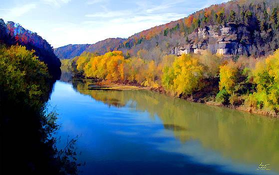 Sam Davis Johnson - Kentucky River Palisade Fall
