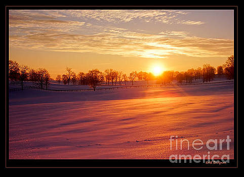 Kentucky Winter Sunrise by Keith Bridgman