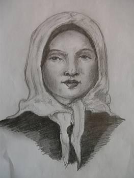 Kerchief Girl by Covaliov Victor