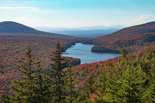 Kettle pond from Owls Head Mountain by Jeff Folger