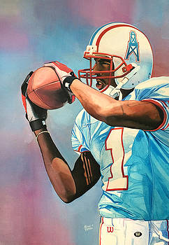 Kevin Dyson - Houston Oilers by Michael  Pattison