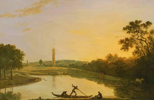 Wilson Richard - Kew Gardens The Pagoda And Bridge 1762