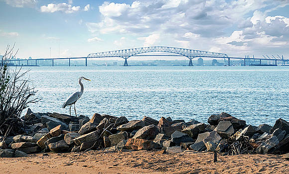 Key Bridge From Ft Smallwood Pk by Brian Wallace