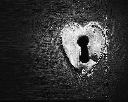 Key to my Heart in Black and White by Lisa Russo