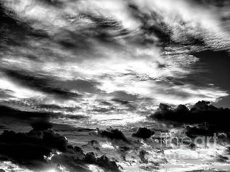 John Rizzuto - Key West Sunset Clouds Monochrome