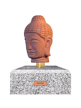Buddha sculpture - Khmer by Terrell Kaucher