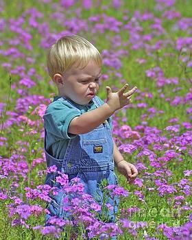 Kid in the Meadow by Dodie Ulery