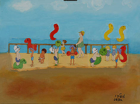 Kids at the Beach by Harris Gulko