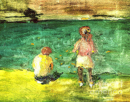 Kids on the beach by Anna Sofia