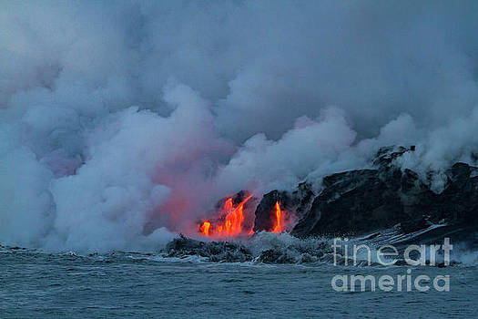 Kilauea Meets The Sea 1 by Daniel Knighton