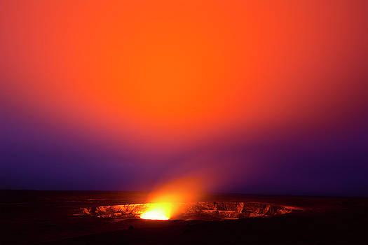 Kilauea Volcano at night by Joe Belanger
