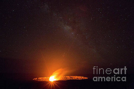 Kilauea Volcano with Milky Way 1 by Daniel Knighton