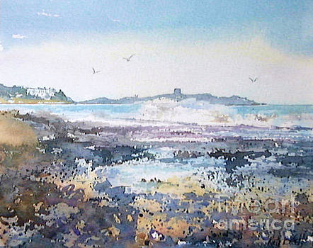 Killiney Beach with views of Dalkey Island by Kate Bedell