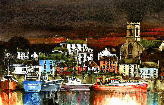 Killybegs Harbour, Donegal. by Val Byrne