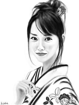 Kimono girl No.9 by Yoshiyuki Uchida
