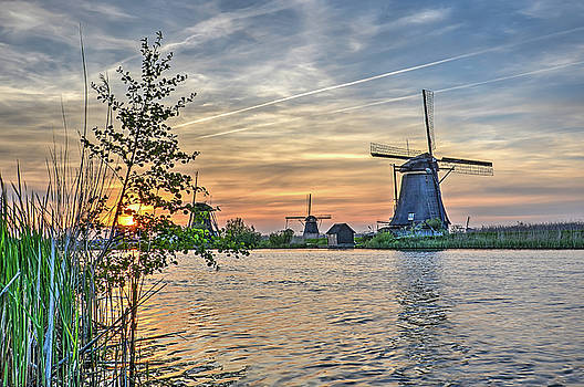 Kinderdijk from the Edge of the Canal by Frans Blok