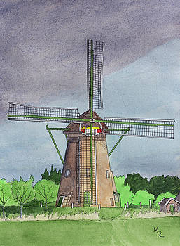 Kinderdijk Windmill by Mike Robles
