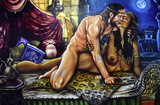 King Solomon and the Queen of Sheba by Mani Price