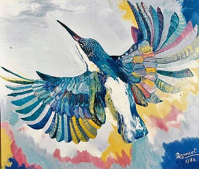 Kingfisher Oil Painting by Preciada Azancot