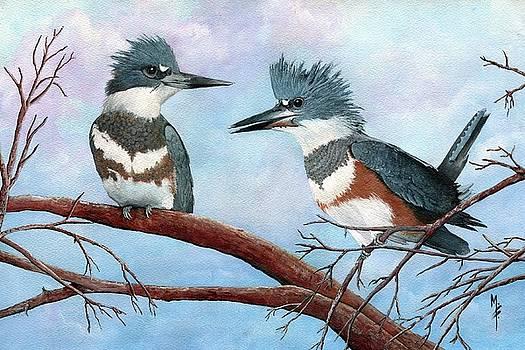 Kingfishers 1 by Marsha Friedman