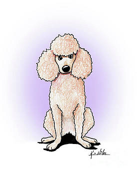KiniArt Poodle by Kim Niles