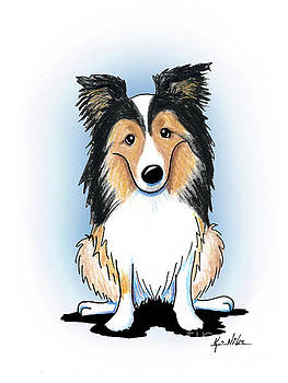 KiniArt sheltie by Kim Niles